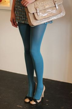 Details at Kate Spade New York – Hosiery Designs Colored Tights Outfit, Purple Tights, Funky Tights, Green Tights, Nylons, In Pantyhose, Stockings Outfit, Stockings Legs, Girls In Leggings