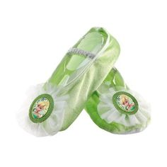 Tinker Bell Ballet Slippers Child Halloween Accessory, Kids Unisex, Multicolor You are in the right Green Slippers, Kids Slippers, Slippers For Girls, Tinkerbell Shoes, Tinkerbell Disney, Tinker Bell Costume, Disney With A Toddler, Iconic Dresses, Ballet Girls