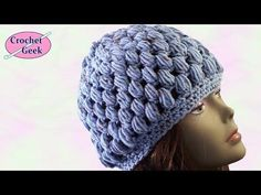 Crochet Puff Stitch Hat Crafting - Crochet Geek - YouTube