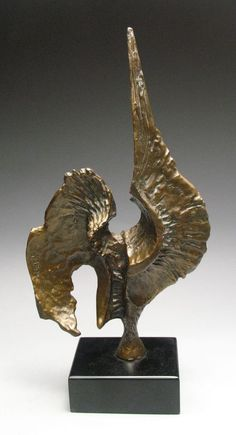 #art #sculpture Fantatic Signed & Numbered Bronze Abstract Rooster Sculpture F. Russo 449/500