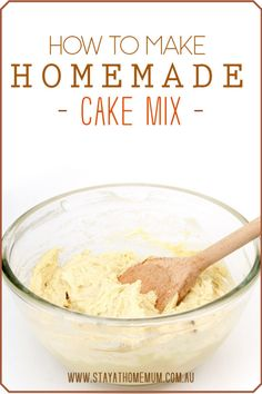 """""""Always have something sweet on hand with this homemade cake mix recipe! Wouldn't it be nice to know exactly what ingredients are in the mix with no added preservatives or other nasty additives? The basic mix will end up being a lot cheaper, too. Cake Recipes From Scratch, Best Cake Recipes, Free Recipes, Favorite Recipes, Basic Cake Mix Recipe, How To Make Homemade, How To Make Cake, Pudding Cake Mix, Homemade Cake Mixes"""