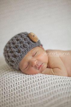 CROCHET HAT PATTERN-Cozy Clusters Hat,newborn crochet pattern,photo prop,crochet hat pattern,crochet pattern,toddler hat pattern  -- $3.50