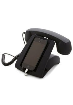 bringing back the charm of the ol' wall tethered handset. Your Call Phone Dock and Handset, #ModCloth