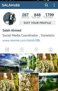 My profile at Instagram