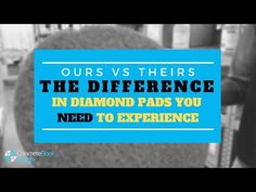 How to Know Your Diamond Pads are Professional Grade Quality - YouTube