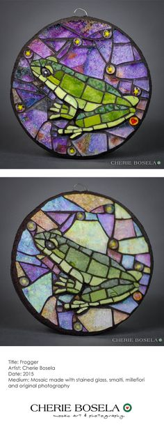 Mosaic stained glass frog                                                                                                                                                                                 More