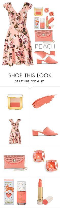 """what a peach"" by collagette on Polyvore featuring beauty, Tom Ford, Miss Selfridge, Raye, La Regale, Kate Spade, katespade, MissSelfridge, ellisfaas and peachlipstick"