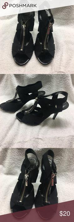 Black open toe shoes Black open toe shoes BCBG Shoes Heels