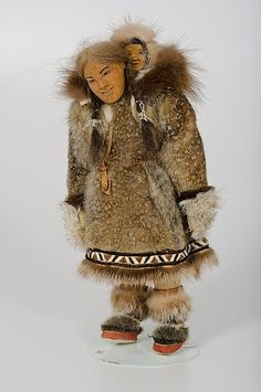 Dolly Spencer Eskimo Assouk Doll     Alaska, mid 20th century