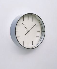 "Clock (model 103) Rudolph De Harak (American, born 1924)  1966. Chrome-plated metal and plastic, 3 1/2 x 12"" (8.9 x 30.5 cm). Manufactured by Rudolph de Harak Industrial Design, Inc., New York, NY. Gift of the designer"