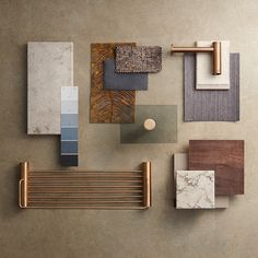 Manufacturers of luxury stainless steel bathroom accessories sets, heated towel racks and grab bars. Mood Board Interior, Interior Design Boards, Art Deco Tiles, Interior Design Presentation, Material Board, Shop Interiors, Retail Design, Palette, Textures Patterns
