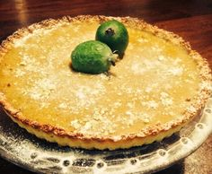Recipe Feijoa and Lime Curd Tart with a Coconut crust by - Recipe of c. - Recipe Feijoa and Lime Curd Tart with a Coconut crust by – Recipe of category Desserts - Fejoa Recipes, Guava Recipes, Sweets Recipes, Gluten Free Recipes, Cooking Recipes, Pineapple Guava, Lime, Thermomix Desserts, Healthy Sweet Treats