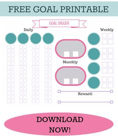 Goal Digger: FREE Printable from Brooke: Not On a Diet