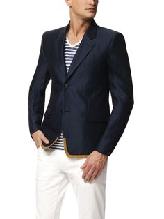 Very Nautical... How fitting because you'll be swimming in a sea of flirtation from the ladies when you're wearing this.