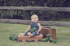 john deere one year session One Year Pictures, Boy Pictures, Cute Baby Pictures, Baby Photos, Toddler Pictures, 1st Birthday Pictures, 1st Boy Birthday, Birthday Ideas, Kids Photo Props