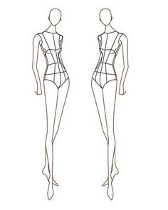 female fashion croquis - Google Search
