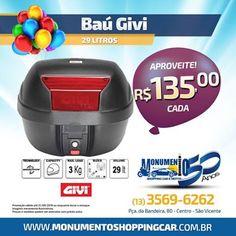 FIRE Mídia - Google+  https://www.facebook.com/monumentoshoppingcar/photos/a.850228231704681.1073741826.238299146230929/1141937165867118/?type=3&theater  Baú GIVI O Melhor Equipamento para sua moto! Ligue Agora: 13 3569-6262 Monumento Shopping Car #motopecas #sv #monumentoshoppingcar GIVI
