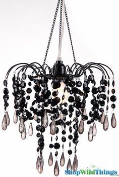 Elegant crystal pink shade hanging candelabra chandelier pendant black chandelier black acrylic beaded light hanging black lamp black beaded lamps aloadofball Gallery