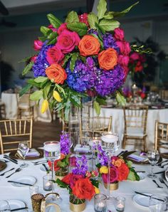 Wedding Color Schemes, Wedding Colors, Wedding Reception Centerpieces, Bright, Table Decorations, Thoughts, Home Decor, Decoration Home, Interior Design