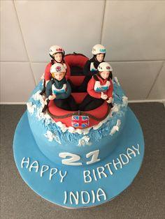 White water rafting cake