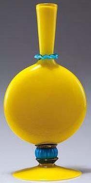 Vittorio Zecchin - Vase - Jaune et Turquoise - 1922