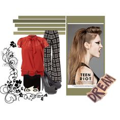 """Rowan's mom's work out fit red"" by misty-lowe on Polyvore"