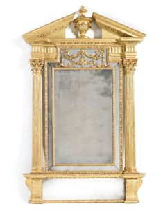 A George II carved giltwood pier glass irish, circa 1740 attributed to Francis…