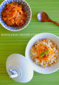 """mock"" kimchi rice with sauerkraut and bacon. So easy to make and needs only few ingredients!"