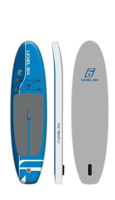 Level Six iSUP Ten Six Inflatable Stand Up Paddle Board - Inflatable SUP Yoga Boards - TheYogaBoarder. Couleur: Carolina Blue YEAH! Inflatable Sup Board, Sup Yoga, Carolina Blue, Paddle Boarding, Stand Up, Surfboard, Boards, Stuff Stuff, Planks