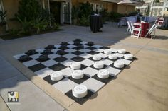 Life size checker board is fun for an outdoor event Checker Board, Event Planning, Entertainment, How To Plan, Fun, Life, Outdoor, Outdoors, Outdoor Games