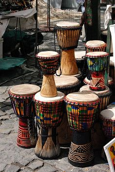 For the love of instruments, have a look at these portraits of traditional musical instruments from different parts of Africa. African Theme, African Safari, African Style, Out Of Africa, West Africa, Djembe Drum, Cultures Du Monde, African Drum, Yoruba