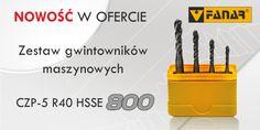 Zestaw gwintowników maszynowych CZP-5 R40 HSSE 800.