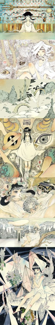 Les excellentes illustrations de Mika Nitta (japon).