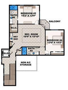 Mediterranean House Plan 52915 Level Two