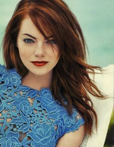 I found it. Emma Stone has my hair color and cut that I'll be happy to pay for in the next couple of months.