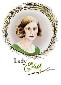 Downton Abbey ~ Lady Edith Card by SarahBargaPollasch on Etsy