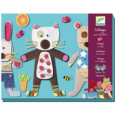 $24.99 Collages for Little Ones. Includes materials, glue and booklet to create for collages.  For ages 3-6 yrs.