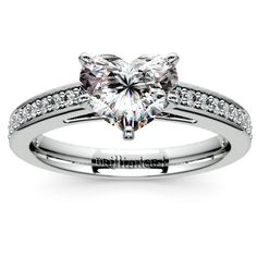 Sweet treats: Give her the gift of love everlasting with the Pave Cathedral Heart Diamond Engagement Ring in White Gold! http://www.brilliance.com/engagement-rings/pave-cathedral-diamond-ring-white-gold-1/4-ctw