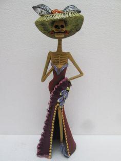 SEXY CATRINA showing leg mexican folk art day by CatrinaSanMiguel