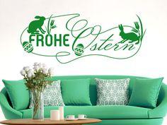 #Wandtattoo #Ostern Frohe Ostern Blumen #Osterdeko