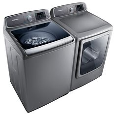 5.0 cu. ft. Capacity Top Load Washer (Stainless Platinum) WA50F9A8DSP | Samsung Home Appliances