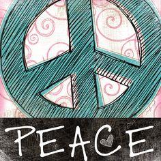 American Hippie Peace Sign Art....