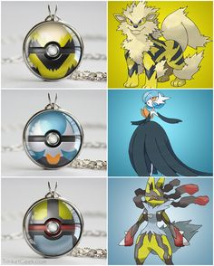 SHINY Pokemon themed pokeballs, Arcanine ball, Gardevoir ball and Lucario ball #kanto #gamingjewelry #treatsforgeeks