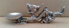Vintage White Metal Chinese Dragon Shaped Censer For Incense Cone. Vintage…