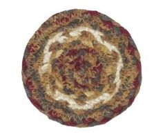 "Protect your tables and display a primitive country feel to your room with our Tea Cabin Braided Coaster 4"". https://www.primitivestarquiltshop.com/products/tea-cabin-braided-coaster-4 #primitivecountryhomedecor"