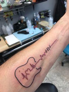 Tattoos:Small wrist tattoos for men astounding guitar heartbeat tattoo guitar tattoo gallery small wrist Guitar Tattoo Design, Music Tattoo Designs, Music Tattoos, Tattoo Designs For Women, New Tattoos, Body Art Tattoos, Tattoos For Women, Acoustic Guitar Tattoo, White Tattoos