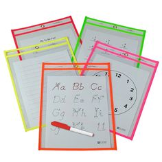 Reusable Dry Erase Pockets 25-box