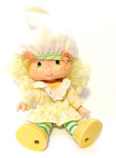 Vintage Strawberry Shortcake Lemon Meringue Doll - 1980s