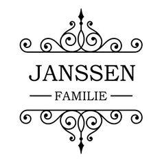Ornament familie met naam sticker raamsticker