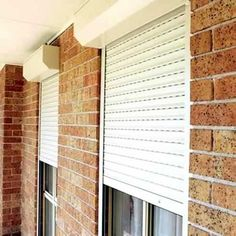 Window security roller shutters from Half Price Shutters for peace of mind Window Shutters Exterior, Interior Shutters, Roller Shutters, Security Shutters, Window Security, Farmhouse Style, Farmhouse Decor, Hurricane Shutters, Patio Enclosures